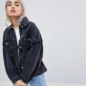 ASOS Denim Jacket in Washed Black